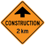 construction-ahead-2km-sign