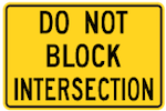 do-not-block-intersection-sign-Wa-73